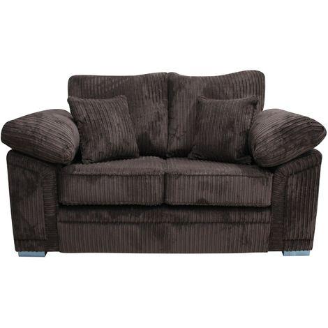 Victoria 2 Seater Sofa Settee Conway Jumbo Cord Chocolate Fabric