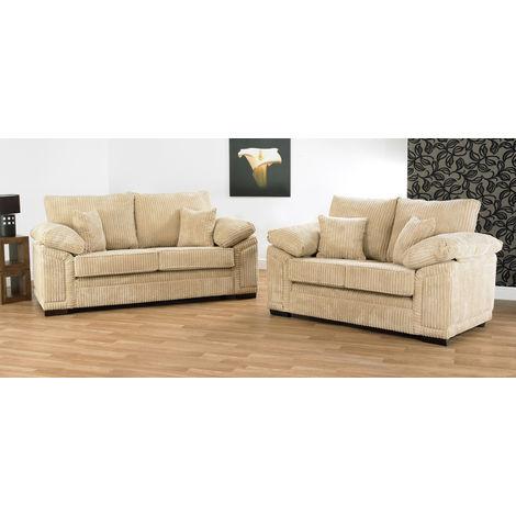 Victoria 3 + 2 seater Fabric Sofa