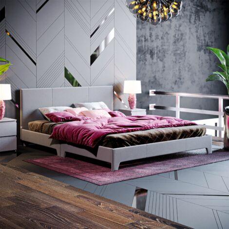Victoria King Size Bed, Dark Grey Linen