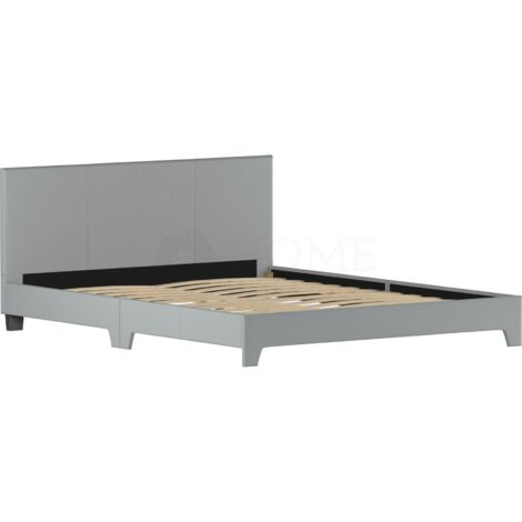 Victoria King Size Bed, Light Grey Linen