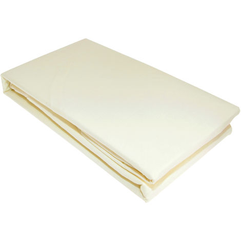 Victoria London Percale Fitted Double Sheet (Double) (CREAM)