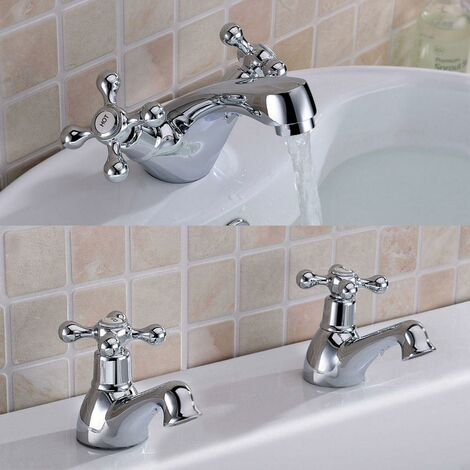 VICTORIAN Bath Taps & Basin Mono Mixer Tap Sets