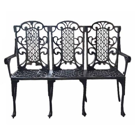 Victorian Bench British Made, High Quality Cast Aluminium Garden Furniture