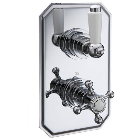 Victorian Traditional Concealed Thermostatic Shower Mixer Valve