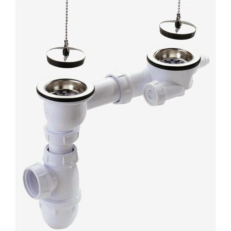 Vidage complet sans trop plein pour évier grès - Pour perçage diamètre 60 mm