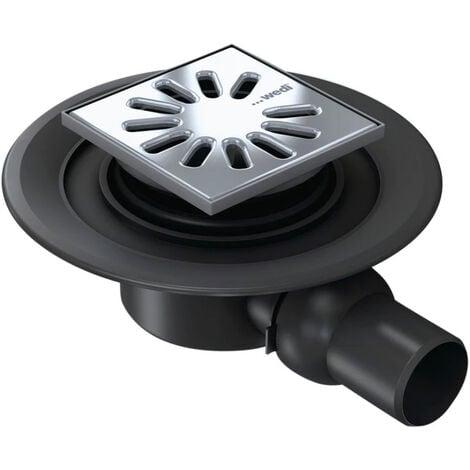 Vidage Wedi Fundo écoulement 1 point horizontal DN50 grille carrée