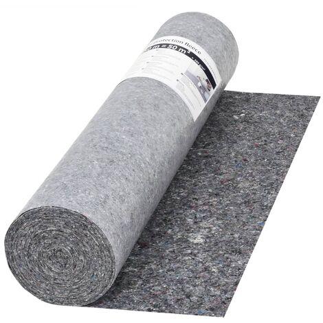vidaXL 1/2/3x Fieltro Antideslizante de Pintor Protectora de Pintura Protección Renovación Suelo Salón Oficina Gris 50 m 180 g/m²/280 g/m²