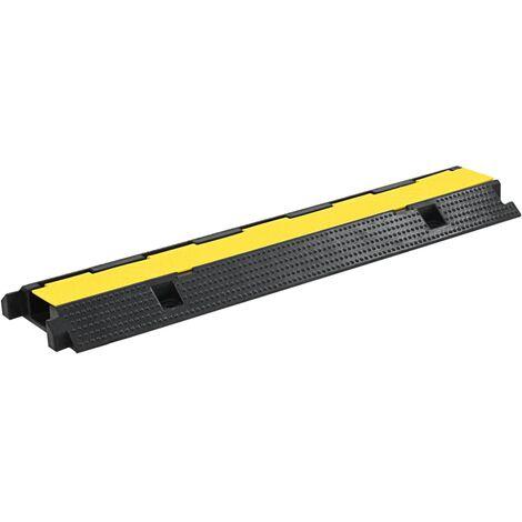 vidaXL 1/2/4x Rampe de Protection de Câble Caoutchouc Protecteur Passage de Câble Revêtements de Sol Parking Entrepôt Chemin Multi-taille