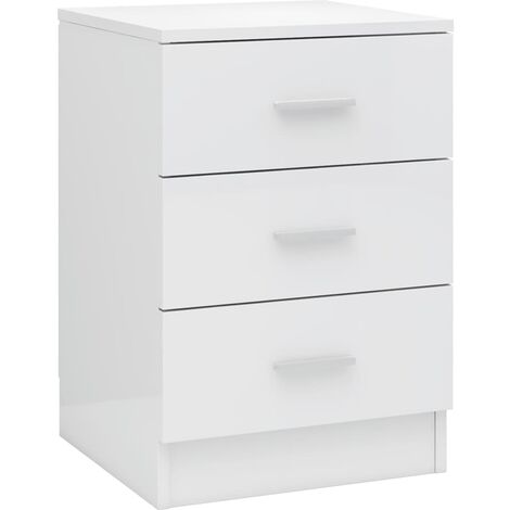 vidaXL 1/2x Bedside Cabinet Home Bedroom Living Room Nightstand Bed Drawer Cabinet Telephone Stand End Couch Table Furniture Chipboard Multi Colours