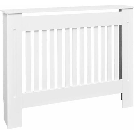 vidaXL 1/2x Cache-radiateur MDF Cache-chauffage Panneau Couverture de Radiateur Meuble de Rangement Salon Maison Intérieur 112/152/172 cm