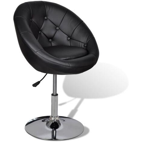 vidaXL 1/2x Chaise de Bar Similicuir Tabouret de Bar Chaise de Comptoir Siège de Comptoir Tabouret de Bistrot Chaise de Pub Intérieur Noir/Blanc