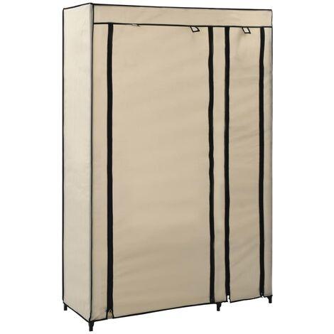 vidaXL 1/2x Folding Wardrobes 110x45x175 cm Fabric Bedroom Garment Closet Clothes Storage Cabinet Organiser Rack Furniture Multi Colours