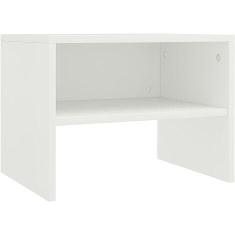 vidaXL 1/2x Table de Chevet Aggloméré Table de Nuit Armoire de Lit Armoire de Chevet avec 1 Compartiment Chambre à Coucher Intérieur Multicolore