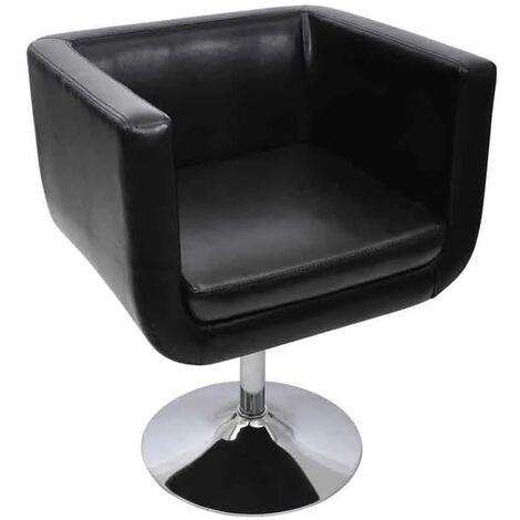 vidaXL 1/2x Tabouret de Bar Cuir Artificiel Meubles de Salon Modernes Mobilier de Bar Chaise de Bar Chaise de Comptoir Moderne Blanc/Noir