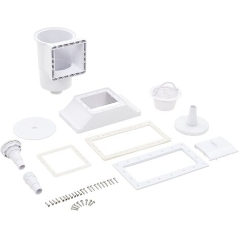 """main image of """"vidaXL 11 Piece Wide-mouth Pool Skimmer 34.3x25x30.5 cm - White"""""""