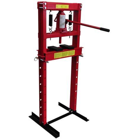 vidaXL 12-ton Hydraulic Floor Shop Press Heavy Duty