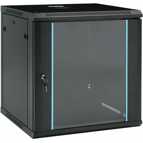 vidaXL 12U Wall Mounted Network Cabinet 19 IP20 600x600x640 mm