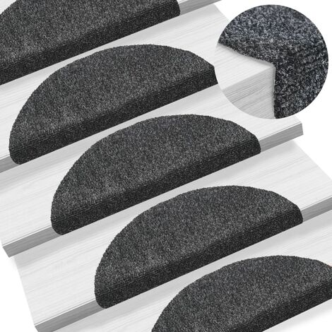 """main image of """"vidaXL 15 pcs Self-adhesive Stair Mats Needle Punch Home Decor Stair Decoration Stair Protector Adhesive Dots 65x21x4/65x21x4 cm Multi Sizes"""""""