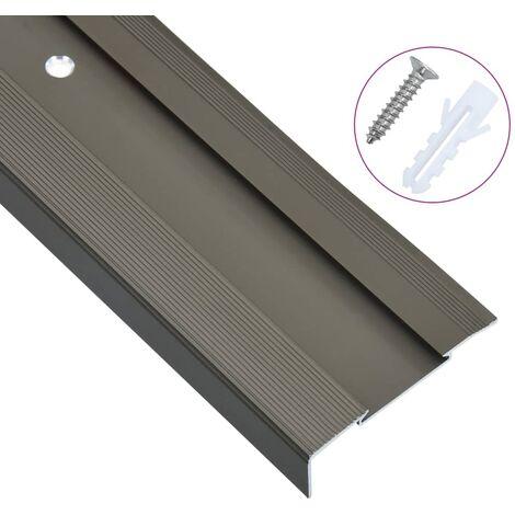 vidaXL 15x Nez de Marche Forme en F Aluminium Protection Bord de Marche d'Escalier Rebord d'Escalier Maison Multicolore 90/100/134 cm