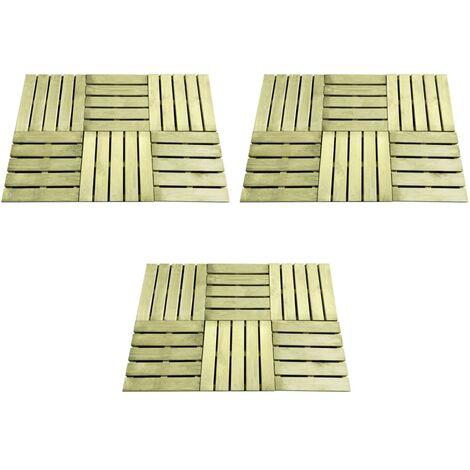 vidaXL 18 pcs Decking Tiles 50x50 cm Wood Green - Green