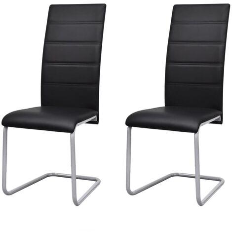 vidaXL 2/4/6x Chaises de Salle à Manger Cantilever Chaises à Manger Chaises de Cuisine Moderne Meubles d'Intérieur Élégant Multicolore
