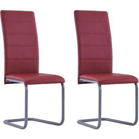 vidaXL 2/4/6x Chaises de Salle à Manger Cantilever Similicuir Chaises de Cuisine Chaises de Repas Chaises de Bureau Maison Intérieur Multicolore