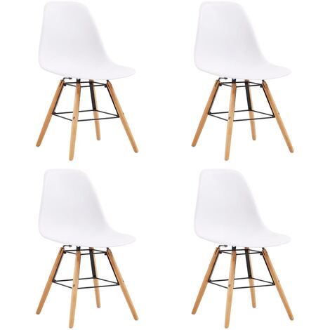 vidaXL 2/4/6x Dining Chairs Sturdy Home Dinner Room Kitchen Seat Seating Furniture Sitting Side Chairs Plastic Steel Multi Colours