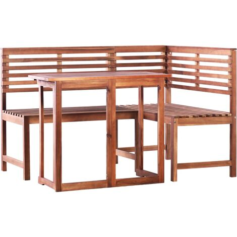 vidaXL 2 Piece Bistro Set Solid Acacia Wood - Brown