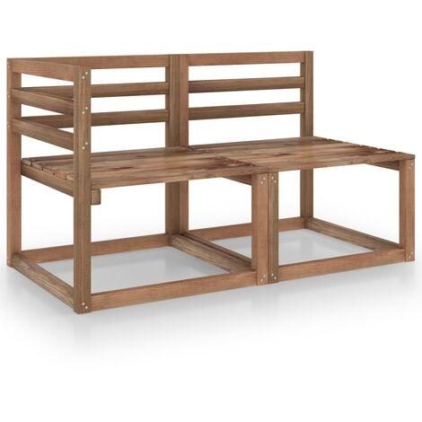"main image of ""vidaXL 2 Piece Garden Lounge Set Brown Impregnated Pinewood - Brown"""