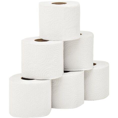 vidaXL 2-Ply Embossed Toilet Paper 128 Rolls 250 Sheets - White