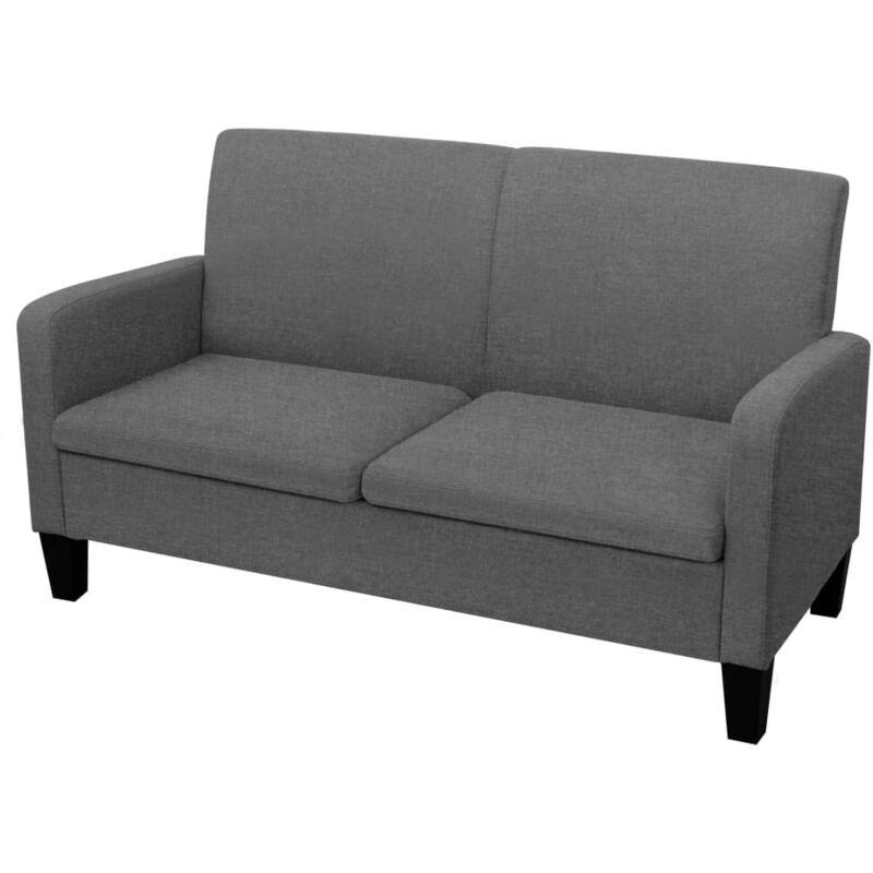 2-Sitzer-Sofa 135x65x76cm Dunkelgrau - VIDAXL