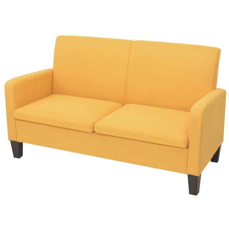 2-Sitzer-Sofa 135x65x76cm Gelb - VIDAXL