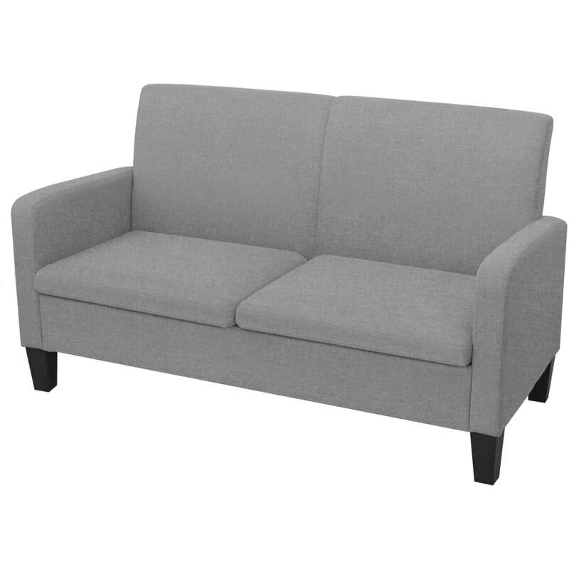 2-Sitzer-Sofa 135x65x76cm Hellgrau - VIDAXL