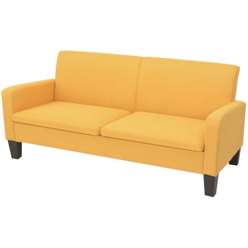 3-Sitzer-Sofa 180x65x76cm Gelb