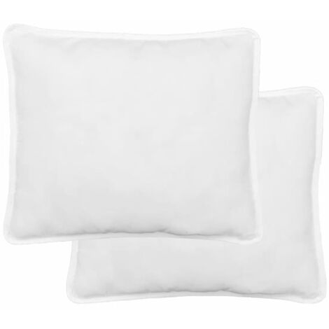 vidaXL 2x Almohada Cojín Cama Sofá Salón Sala de Estar Hogar Interior Suave Cómoda Dormir Descanso Cuadradas Lavables Blanca Multitalle