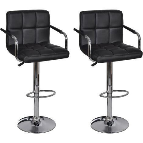vidaXL 2x Barhocker mit Armlehne Höhenverstellbar Barstuhl Tresenhocker Thekenhocker Küchenhocker Tresenstuhl Kunstleder mehrere Auswahl