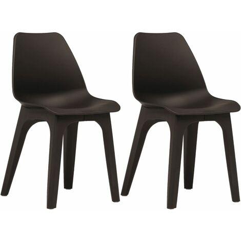 vidaXL 2x Garden Chairs Plastic Outdoor Weather Resistant Seat Multi Colours