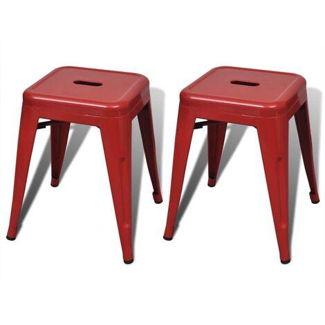 vidaXL 2x Hocker Stapelbar Stapelhocker Sitzhocker Gästehocker Stuhl Barhocker Barstuhl Küchenstuhl Esszimmerstuhl Metall mehrere Auswahl