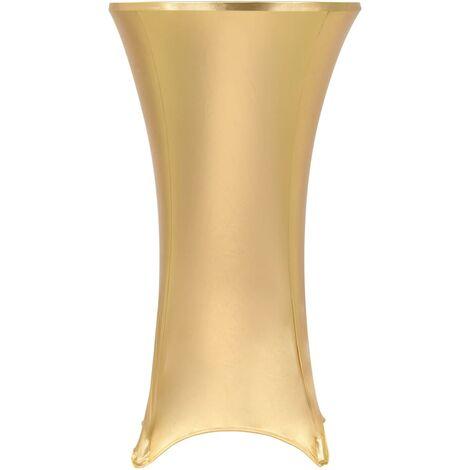vidaXL 2x Nappes de Table Extensibles Protection Couverture de Table Mariage Café Fête d'Anniversaire Evénement Multicolore 60/70/80 cm