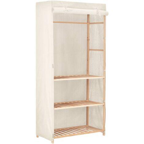 vidaXL 3-Tier Wardrobe Basement Bedroom Attic Closet Clothes Storage Cabinet Organiser Cupboard Rack Furniture Fabric Multi Colours