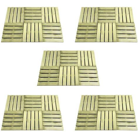 vidaXL 30 pcs Decking Tiles 50x50 cm Wood Green - Green