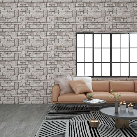 vidaXL 3D Wall Panels with Grey Brick Design 11 pcs EPS - Grey