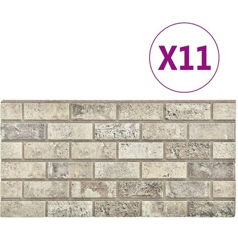 vidaXL 3D Wall Panels with Sand Brick Design 11 pcs EPS - Beige