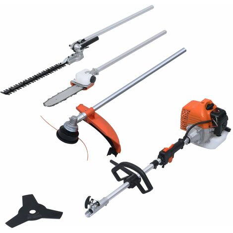vidaXL 4-in-1 Petrol Garden Multi-tool Set with 52 cc Engine - Orange