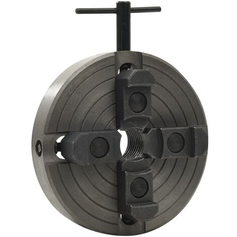 """main image of """"vidaXL 4 Jaw Wood Chuck with M33 Connection Steel Black 150x63 mm"""""""