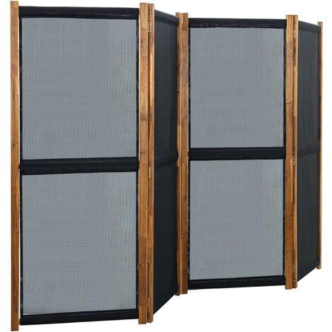 "main image of ""vidaXL 4-Panel Room Divider Black 280x170 cm - Black"""