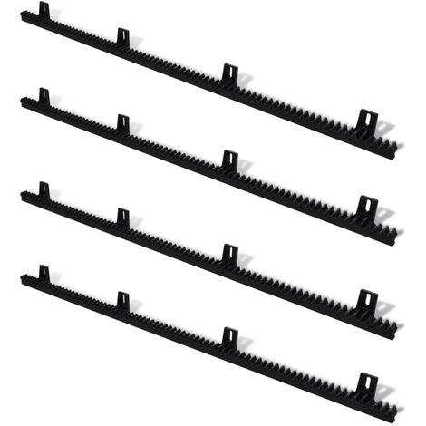 VidaXL 4 rejillas de nylon para el abridor de puerta corredera