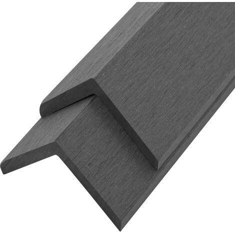 "main image of ""vidaXL 5 pcs Decking Angle Trims WPC 170 cm Grey - Grey"""