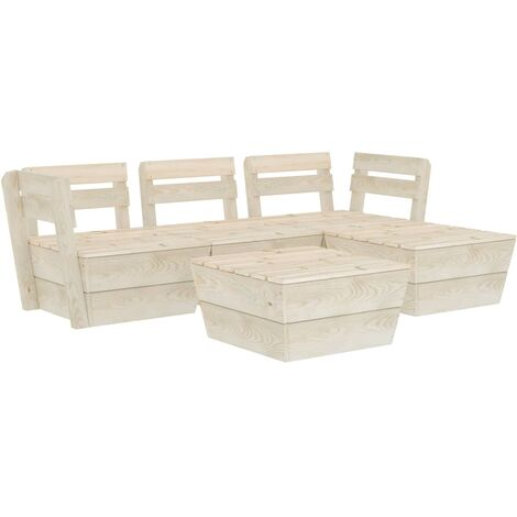 vidaXL 5 Piece Garden Pallet Lounge Set Impregnated Spruce Wood