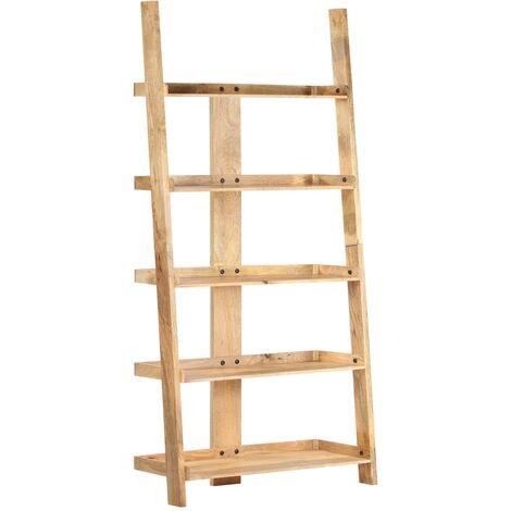 vidaXL 5-Tier Bookshelf Solid Mango Wood 60x37x180 cm - Brown